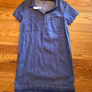 NWT old navy denim shirt dress size M